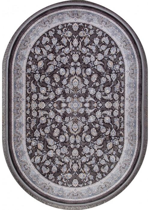 Иранский ковер из акрила Behbahan 1200-2056 Dark gray овальный