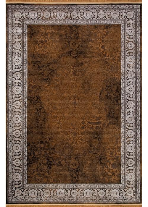 Иранский ковер из бамбукового шелка Kermanshah 1200-92-02 Brown прямоугольный