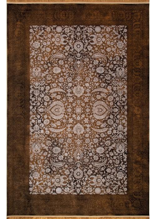 Иранский ковер из бамбукового шелка Kermanshah 1200-92-08 Brown прямоугольный
